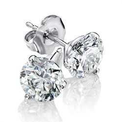 14K White Gold Diamond Solitaire Earrings 1/7 ct tw H-I1