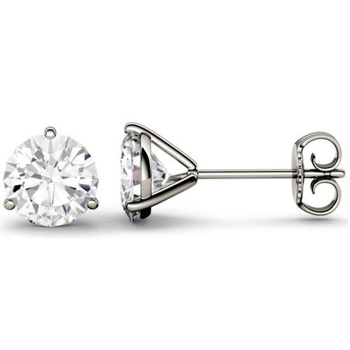 14K White Gold Diamond Solitaire Earrings 1/3 ct tw H-I1