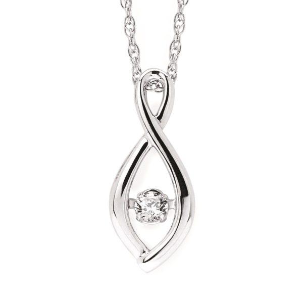 Rhythm of love diamond pendant