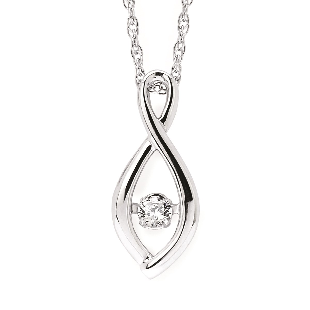 Rhythm of love sterling silver diamond pendant at pughs diamond rhythm of love diamond pendant aloadofball Images