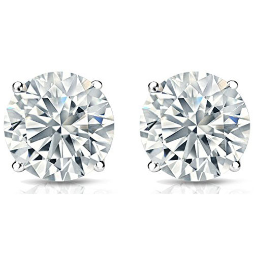 Sterling Silver 5mm Cubic Zirconia Solitaire Earrings