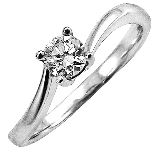 14K White Gold Diamond Engagement
