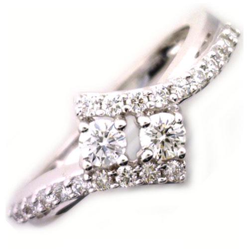 14K White Gold 2 of Us Diamond Ring