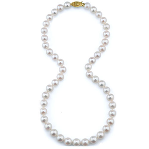 """20"""" Freshwater 7MM Pearl Strand with 14K Yellow Gold Clasp"""