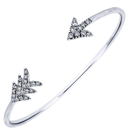 jade jewelry lyst in product diamond silver jagger metallic arrow bracelet