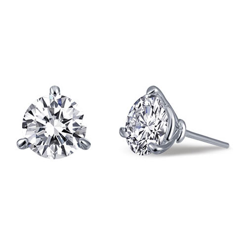 Lafonn sterling silver diamond simulate earrings