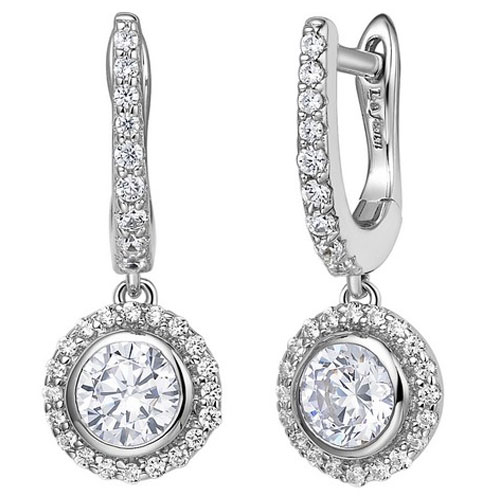 Sterling Silver Simulated Diamond Earrings