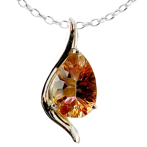 Sterling Silver Twilight Coated Topaz Pendant