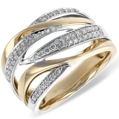 14K Yellow & White Gold Diamond Ring 1/3 ct tw