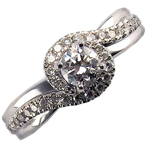 ostbye 14K White Gold Diamond Engagement Ring 1/2ct tw