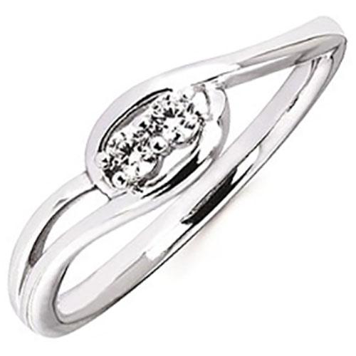 2 us 10 karat white gold diamond engagement ring