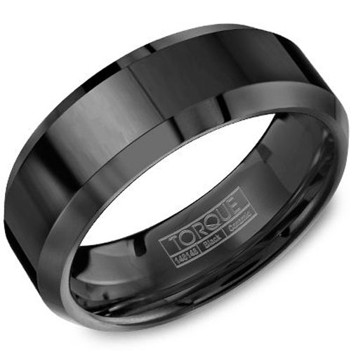 8mm Black Ceramic Wedding Band