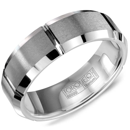 7mm Tungsten Carbide Wedding Band, Brushed Center and Polished Edges