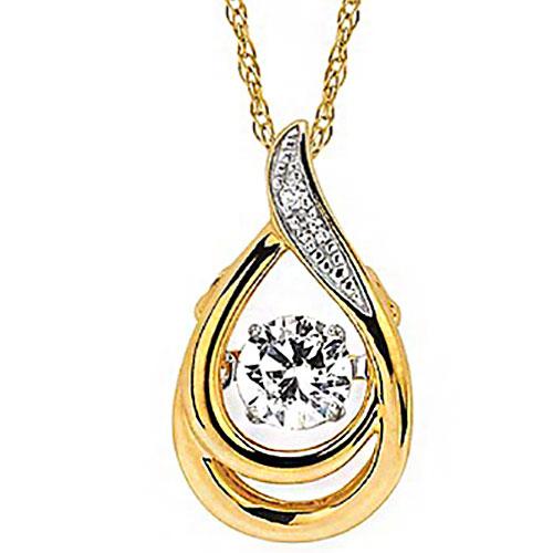 14K Yellow Gold Rhythm of Love Diamond Pendant