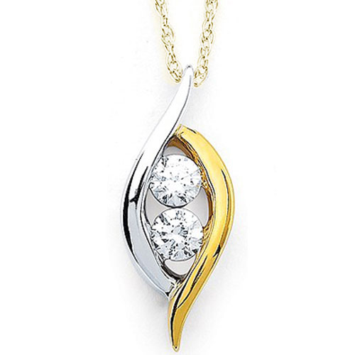 14K Yellow & White Gold 2 of Us Diamond Pendant