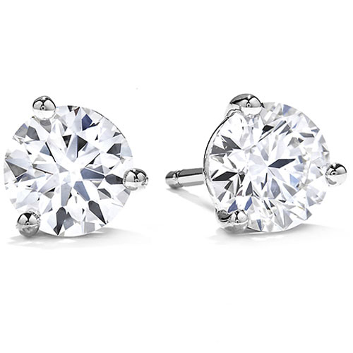 14 karat white gold diamond earrings