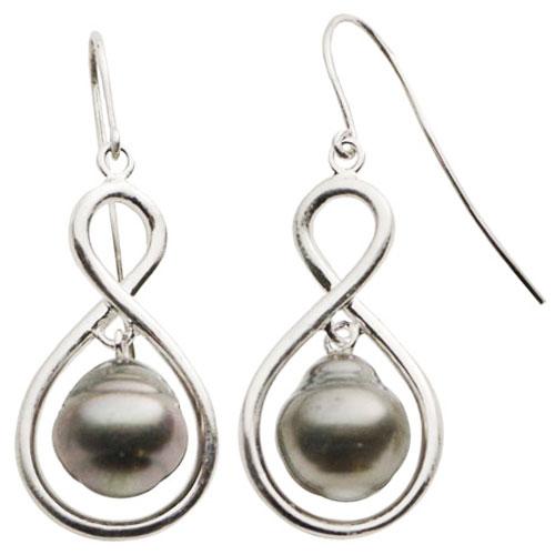 Tahitian Sterling Silver Pearl Earrings