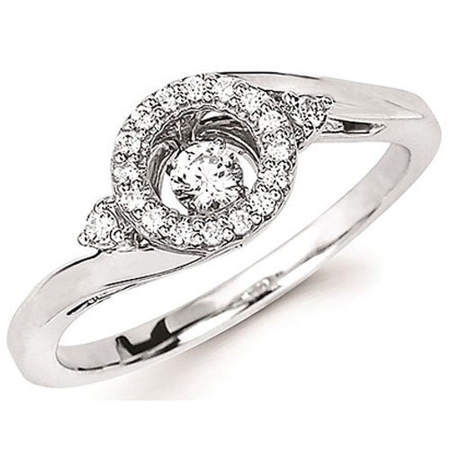 Sterling Silver Rhythm of Love 1/5 ct tw Diamond Ring