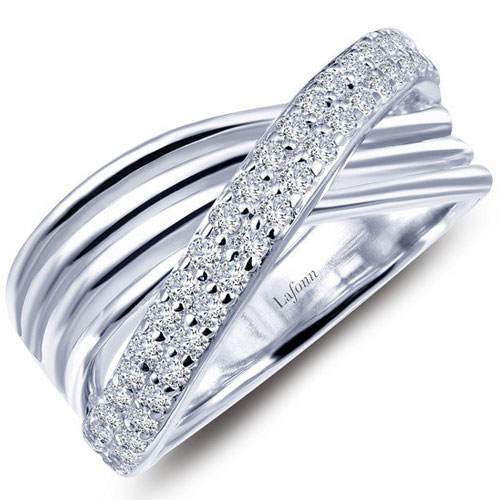 Lafonn Sterling silver simulated diamond ring