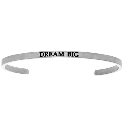 "Intuitions Stainless Steel ""DREAM BIG"" Cuff Bracelet"