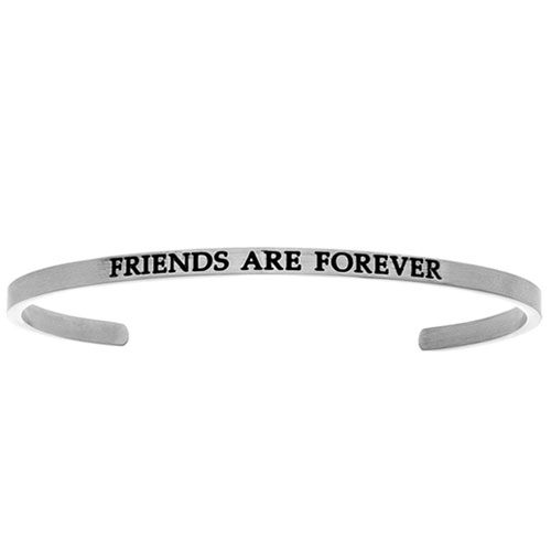 "Intuitions Stainless Steel ""FRIENDS ARE FOREVER"" Cuff Bracelet"