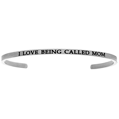"Intuitions Stainless Steel ""I LOVE BEING CALLED MOM"" Cuff Bracelet"