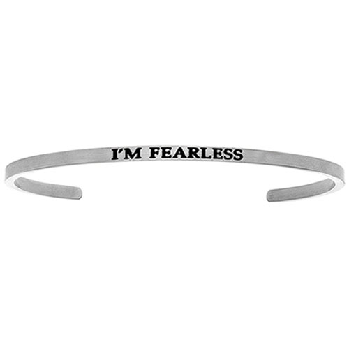 "Intuitions Stainless Steel ""I'M FEARLESS"" Cuff Bracelet"