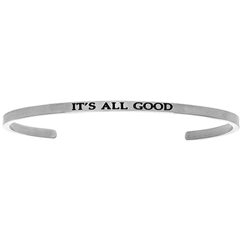 "Intuitions Stainless Steel ""IT'S ALL GOOD"" Cuff Bracelet"