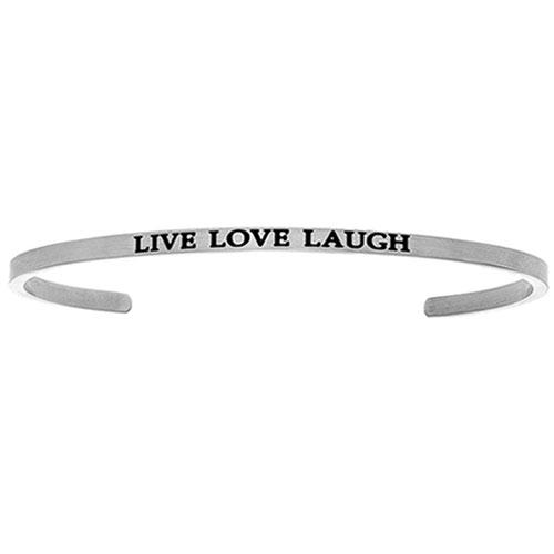 Intuitions live, laugh, love cuff bracelet