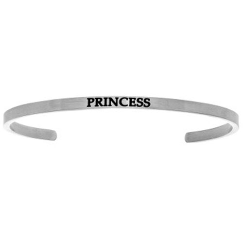"Intuitions Stainless Steel ""PRINCESS"" Cuff Bracelet"