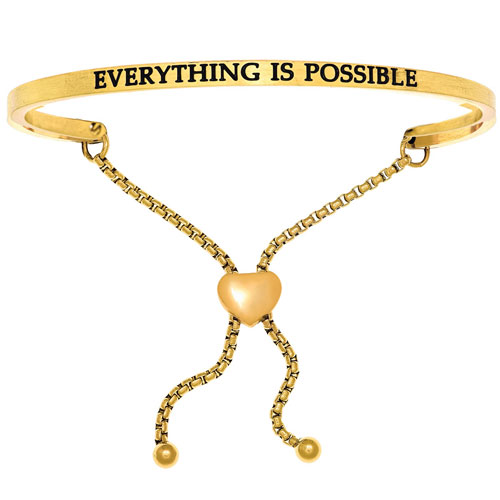 Intuitions Everything is possible adjustable bracelet.
