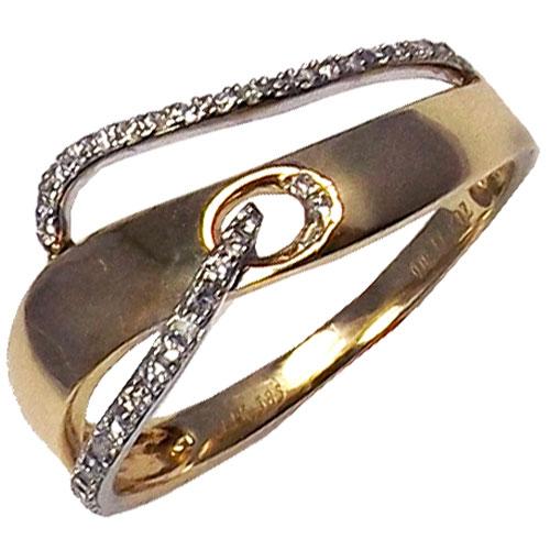 14K Yellow & White Kattan Gold 1/10 ct tw Diamond Ring