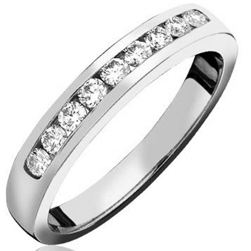 Crown Ring at Pugh's 14K White Gold 1/4 ct tw Diamond Band
