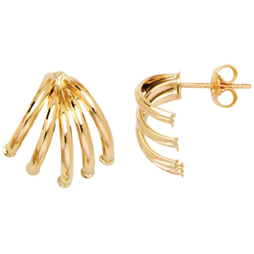 14K Yellow Gold Huggie Style Earrings