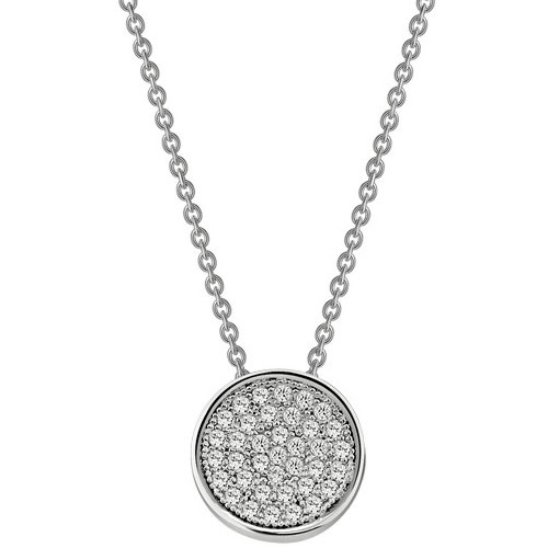 "Lafonn Sterling Silver Simulated Diamond Pendant with 18"" Chain"