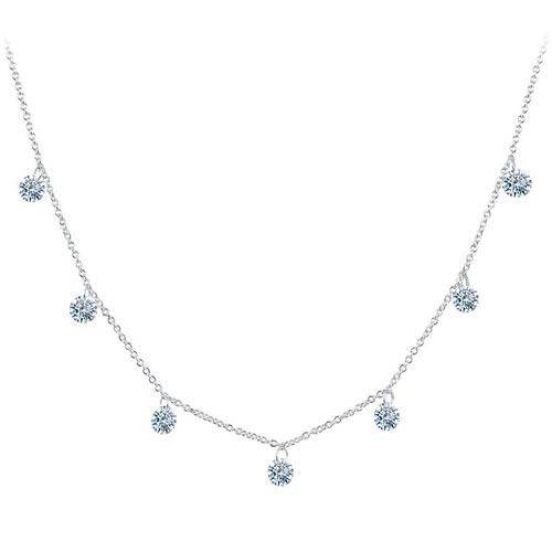 "Lafonn Sterling Silver Simulated Diamond 18"" Necklace"