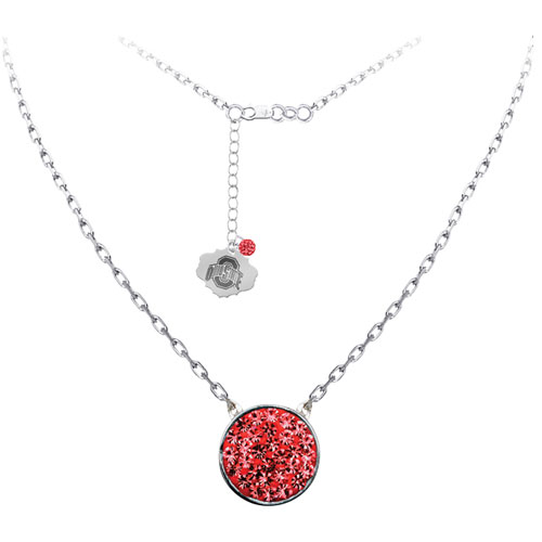 """Sterling Silver Crystal Pendant with 18"""" Chain"""