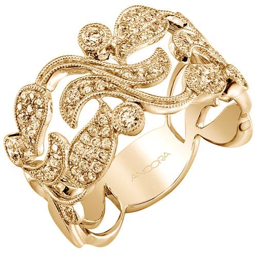 14K Yellow Ancora Gold 1/2 ct tw Diamond Ring