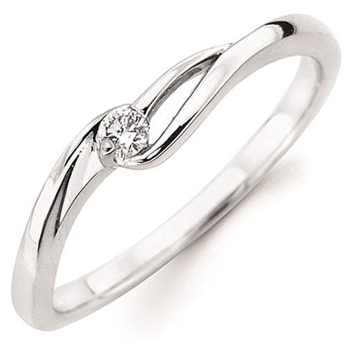 10K White Gold 1/20 ct Diamond Ring