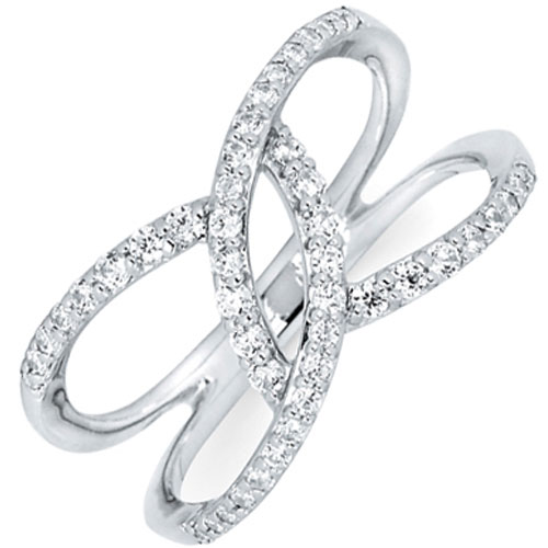 14K White Gold 1/3 ct tw Diamond Ring