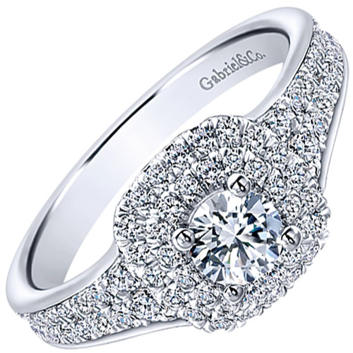 gabriel & Co. diamond engagement ring white gold.