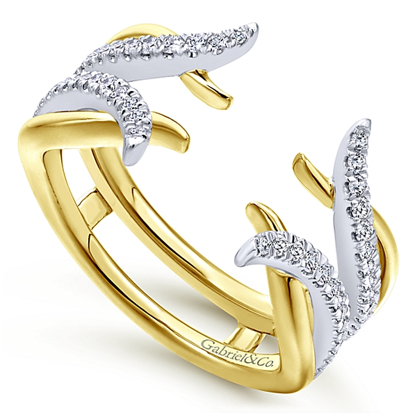 Gabriel yellow gold and diamond ring