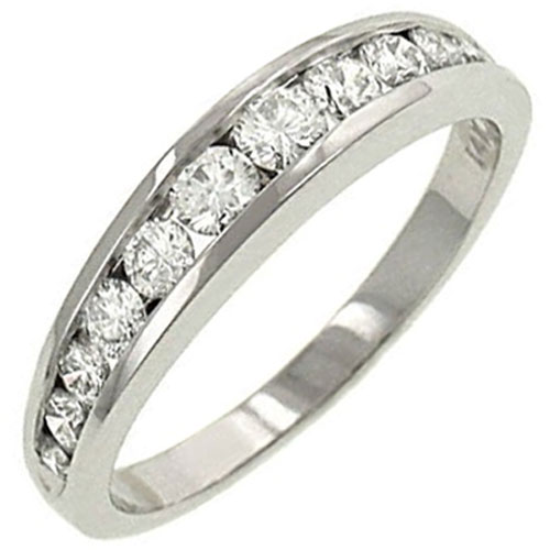 14K White Gold 3/8 ct tw Diamond Band