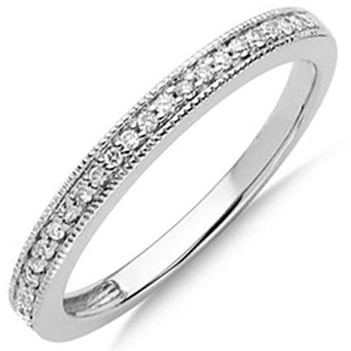 Diamond straight band ring
