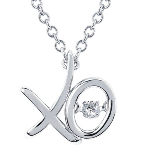 "Sterling Silver Rhythm of Love 1/20 ct Diamond Pendant with 18"" Chain"