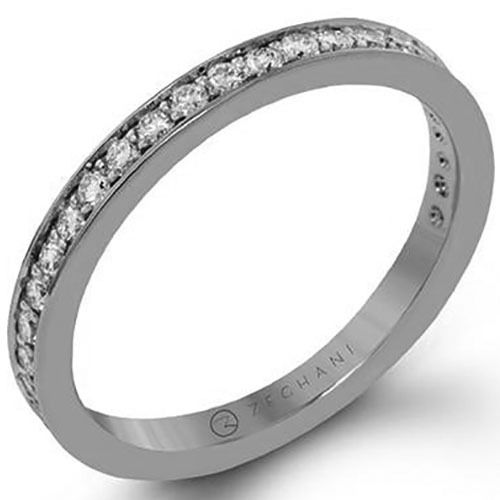 14K White Gold 1/3 ct tw Diamond Channel Set Band
