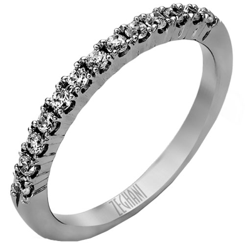 14K White Rings Gold 1/4 ct tw Diamond Band