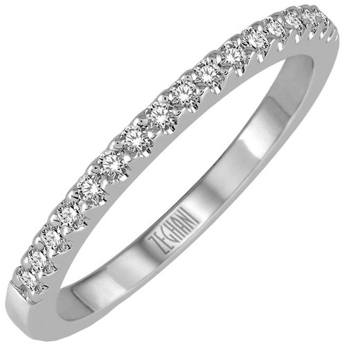 Rings 14K White Gold 1/10 ct tw Diamond Band