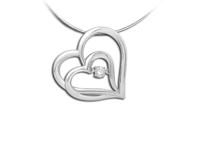 Heart sterling silver rhythm of love diamond pendant with 18 chain heart sterling silver rhythm of love heart diamond pendant with 18 chain aloadofball Image collections